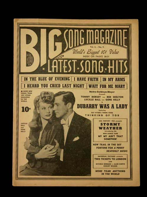 """Big Song Magazine """"Dubarry Was A Lady"""" Sheet Music"""