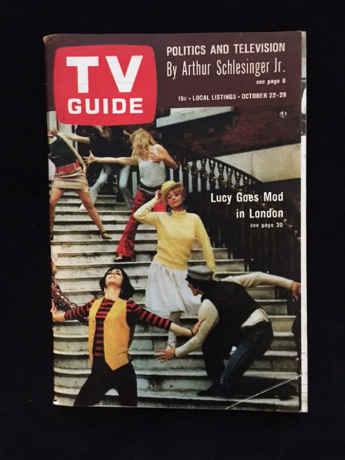 """TV Guide """"Lucy Goes Mod In London"""""""