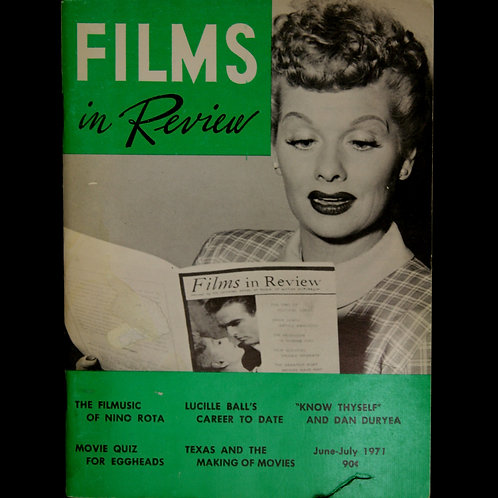 """Films In Review"" June-July 1971"