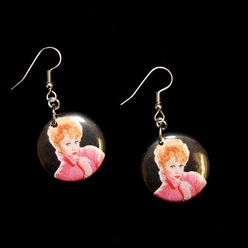 I Love Lucy Drop Down Earrings