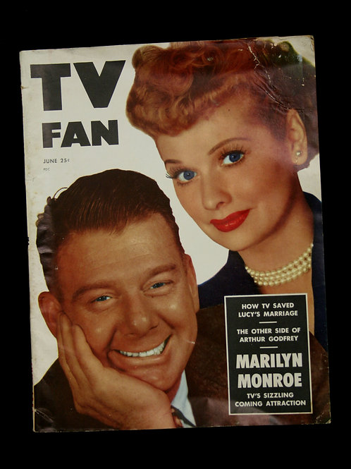 TV Fan with Lucille Ball & Arthur Godfried
