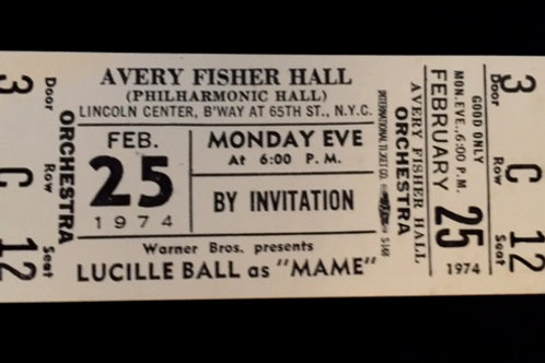 """""""Mame"""" at Avery Fisher Hall Ticket"""