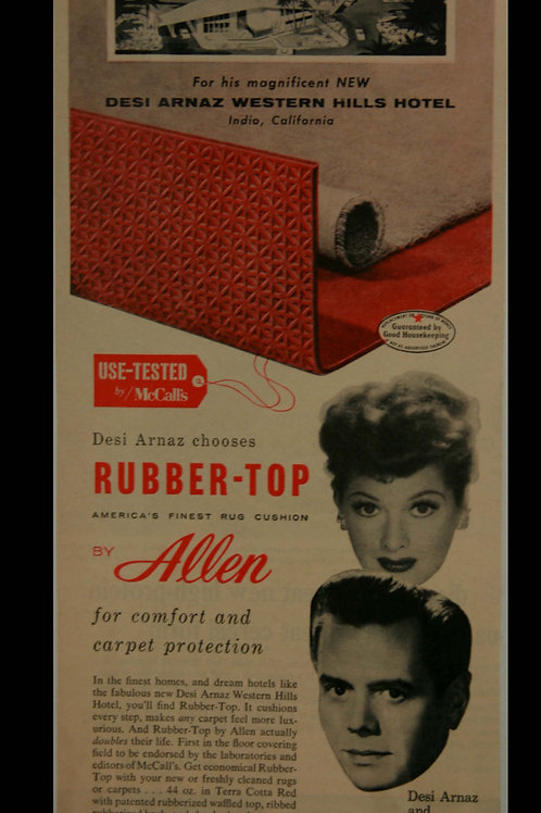 Rubbertop Advertisement featuring Lucy & Desi