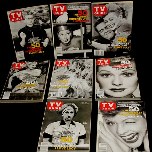 Collection of 8 Collector TV Guides feat. L. Ball