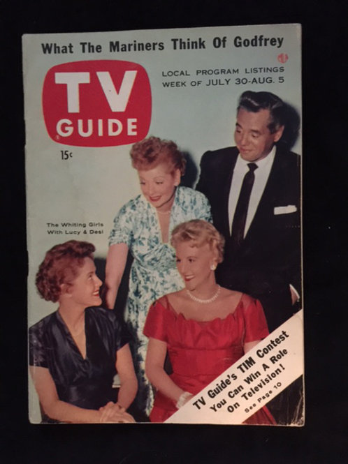 TV Guide Lucy & Desi with the Whiting Girls
