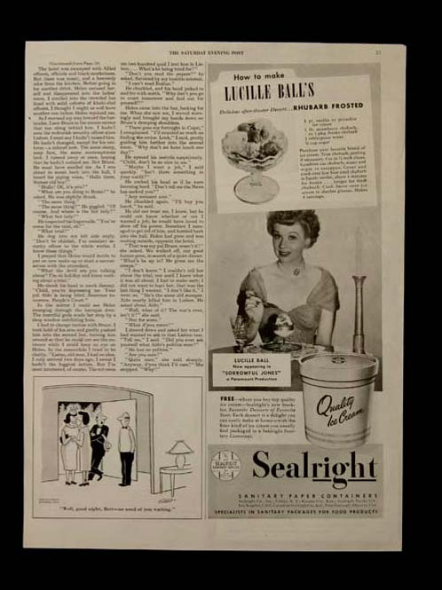 "Lucille Ball Advertisement for ""Sealright"""