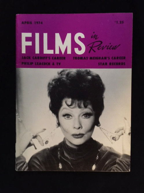 """""""Films In Review"""" 1974 Magazine"""