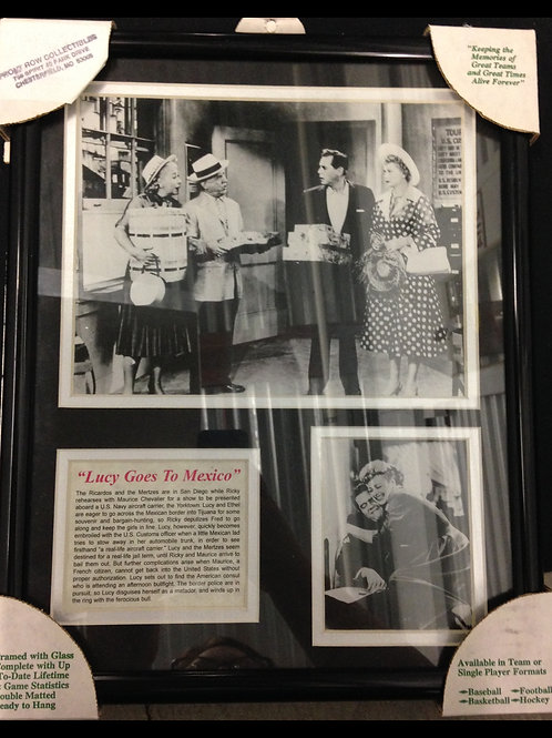 """""""Lucy Goes To Mexico"""" Framed Photographs"""