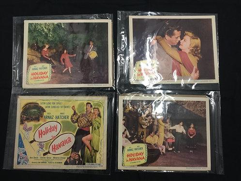 "Set of ""Holiday In Havana"" Movie Lobby Cards"