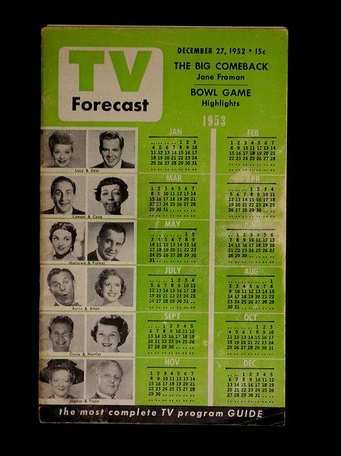 TV Forecast December 1952