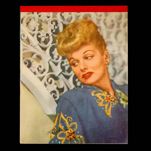 Lucille Ball Vintage Pencil Tablet