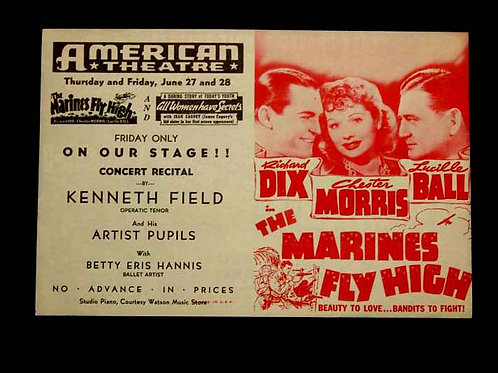 """The Marines Fly High"" Movie Program"