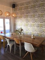 Tapete an Wand, wirkt dekorativ
