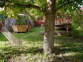 bania dans le jardin