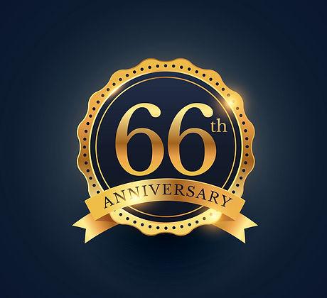 66th-anniversary-celebration-badge-label