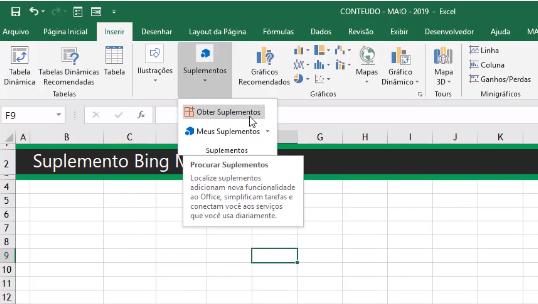 Inserir Bing Mapas