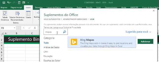 Adicionar Bing Mapas