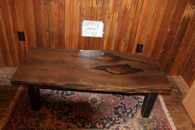 Walnut Coffee Table w/Resin Inlay