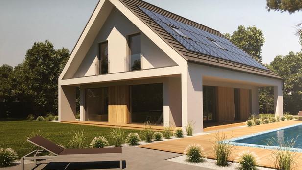 Villa in bioedilizia con pannelli solari e piscina riscaldata