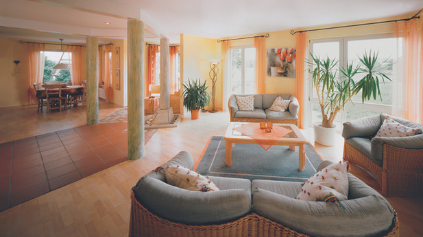 Sala relax Hotel in bioedilizia