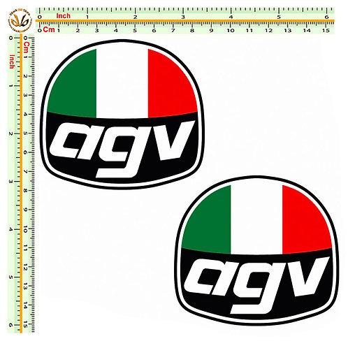 Agv casco italia 2 adesivi