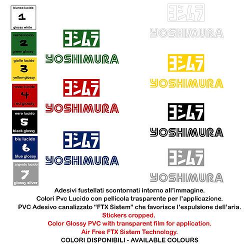 Adesivi Sticker Yoshimura 2 Pz. Size 12 cm