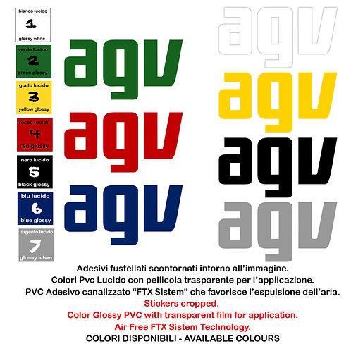 Sticker AGV adesivi 4 pz. Size 10-15 cm.