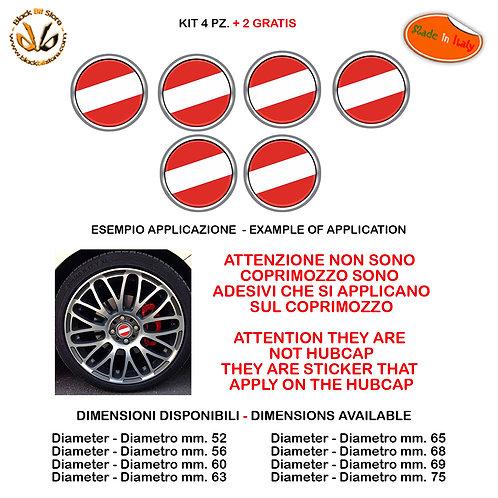 Adesivi coprimozzo bandiera austria flag sticker for hubcap auto moto