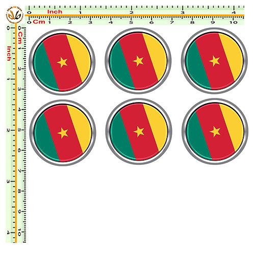 Adesivi targa bandiera camerum flag sticker license plate