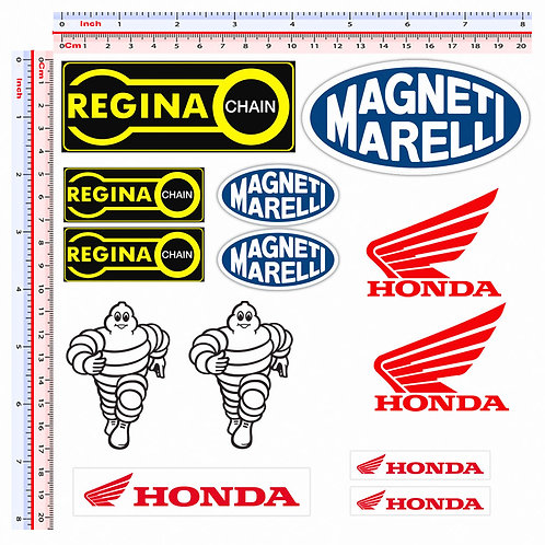 Adesivi regina chain magneti marelli honda michelin 13 pz.