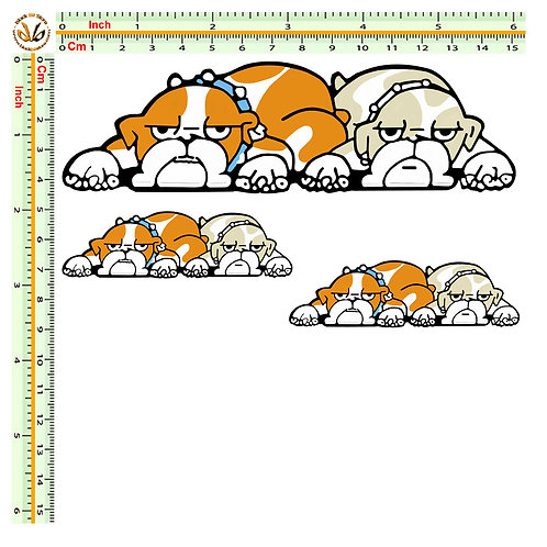 Rossi chihuahua Kit  3 adesivi