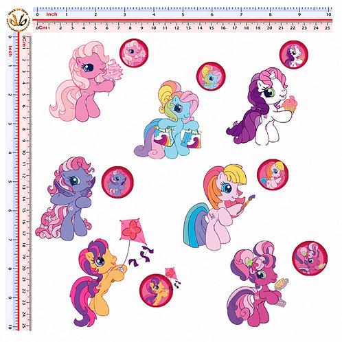 Adesivi my little pony Sticker 14 Pz.