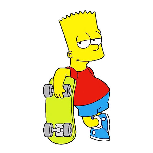 Wall Stickers Bart con Skate