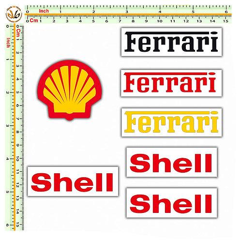 ferrari shell Kit  7 adesivi