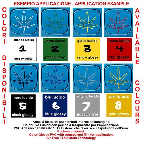 Adesivi serbatoio cannabis Sticker car tank 1 Pz.
