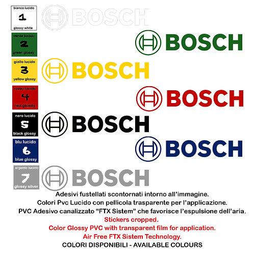 Sticker Adesivi Bosch 4 Pz. Size 11-15 cm.
