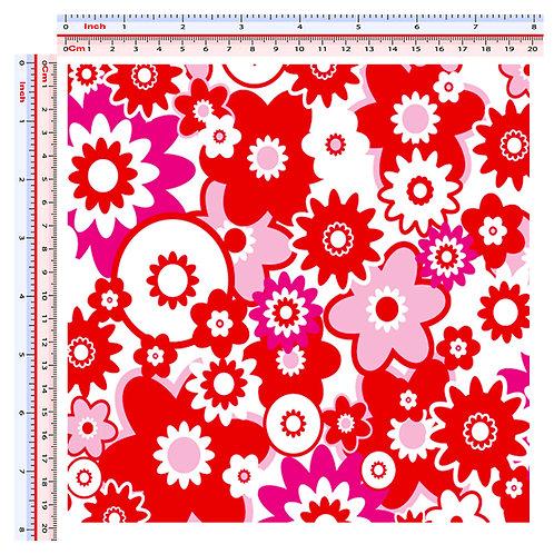 Adesivi serbatoio auto fiori rossi Sticker car tank 1 Pz. Size 20x20