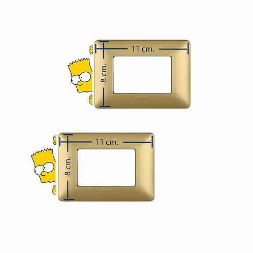Wall decal light switch bart simpson 2 pz.