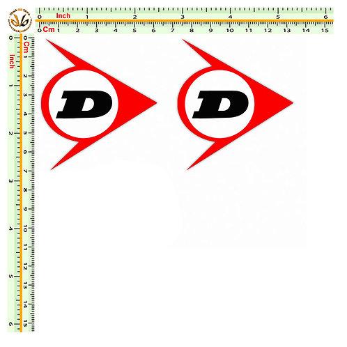 Stickers adesivi dunlop 2 pz.