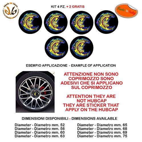 Adesivi coprimozzo luna moon the doctor sticker for hubcap auto moto