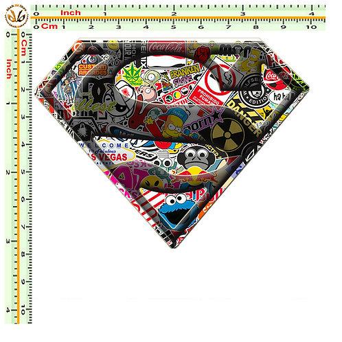 Adesivi superman Sticker bomb auto 1 Pz.