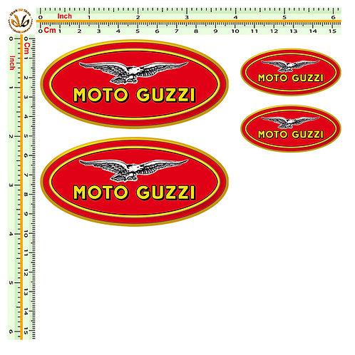 moto guzzi sticker 4 adesivi