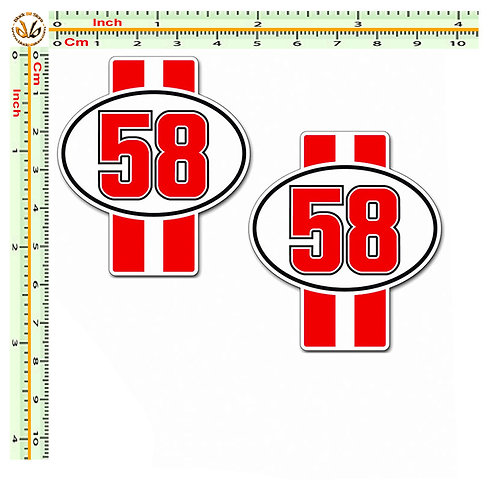 Simoncelli 58 strisce  2 stickers