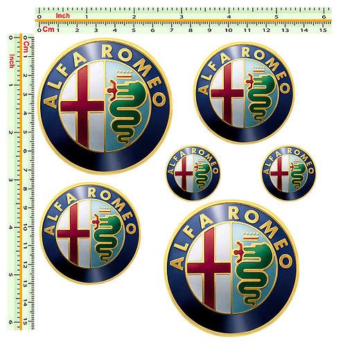 Alfa Romeo 6 adesivi