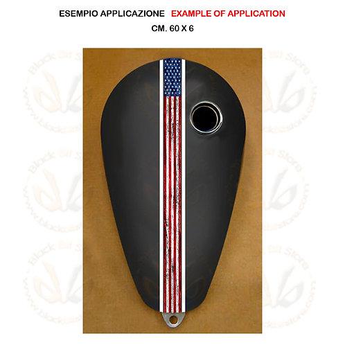 Adesivo serbatoio moto bandiera america sticker tank usa flag white