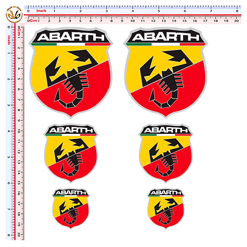 Sticker Abarth adesivi 6 pz.