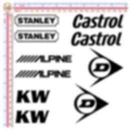 STANLEY CASTROL ALPINE KW DUNLOP AKRAPOVIC MICHELIN KTM ARAI AGIP RK CHAIN SPARCO