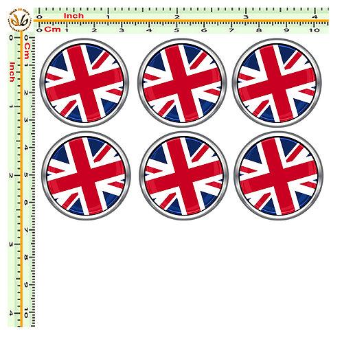 Adesivi targa bandiera union jack flag sticker license plate