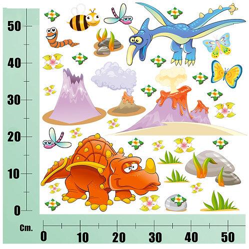 Kit Wall Stickers Mondo dei Dinosauri 20 pezzi