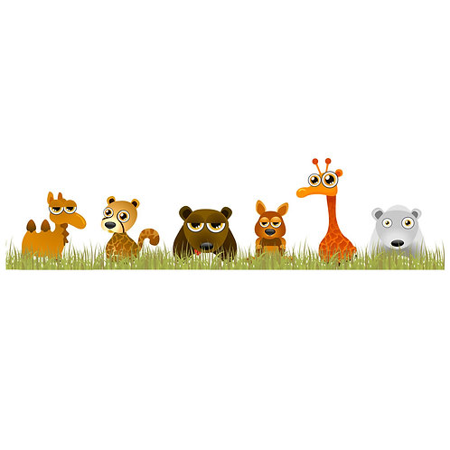 Wall Stickers Animali Savana